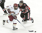 Joe Rooney, Denis Chisholm - The Boston College Eagles defeated Northeastern University Huskies 5-3 on Saturday, November 19, 2005, at Kelley Rink in Conte Forum at Chestnut Hill, MA.