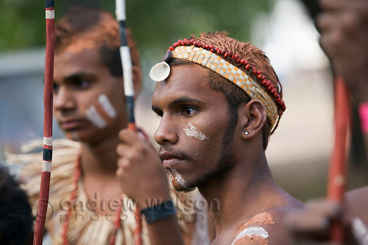 Lockhart River dancers at the Laura Aboriginal Dance Festival.  Laura, Queensland, Australia