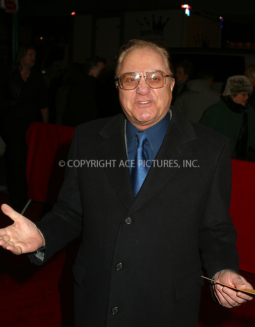 "Pat Cooper arriving at the World Premiere of ""Analyze That"" in New York. December 12, 2002. Please byline: Alecsey Boldeskul/NY Photo Press.   ..*PAY-PER-USE*      ....NY Photo Press:  ..phone (646) 267-6913;   ..e-mail: info@nyphotopress.com"