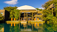 Swimming pool, Saxon Hotel, Johannesburg, South Africa.