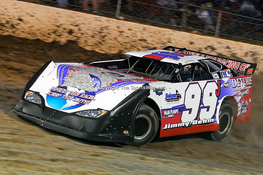 Sep 10, 2010; 8:15:36 PM; Rossburg, OH., USA; The 40th annual running of the World 100 Dirt Late Models racing for the Globe trophy at the Eldora Speedway.  Mandatory Credit: (thesportswire.net)