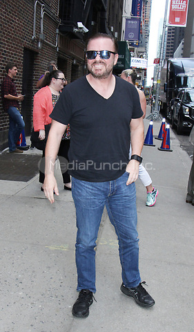 NEW YORK, NY - MAY 18:  Ricky Gervais at The Late Show with Stephen Colbert in New York City on May 18, 2017. Credit: RW/MediaPunch