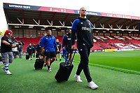 Jamie Roberts and the rest of the Bath Rugby team arrive at Ashton Gate. Gallagher Premiership match, between Bristol Bears and Bath Rugby on August 31, 2018 at Ashton Gate Stadium in Bristol, England. Photo by: Patrick Khachfe / Onside Images