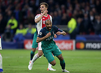 Lucas of Tottenham Hotspur celebrates scoring the third  and winning goal during AFC Ajax vs Tottenham Hotspur, UEFA Champions League Football at the Johan Cruyff Arena on 8th May 2019