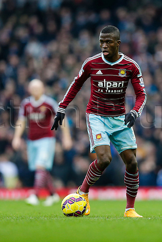 18.01.2015.  London, England. Barclays Premier League. West Ham versus Hull City.  West Ham United's Enner Valencia in action