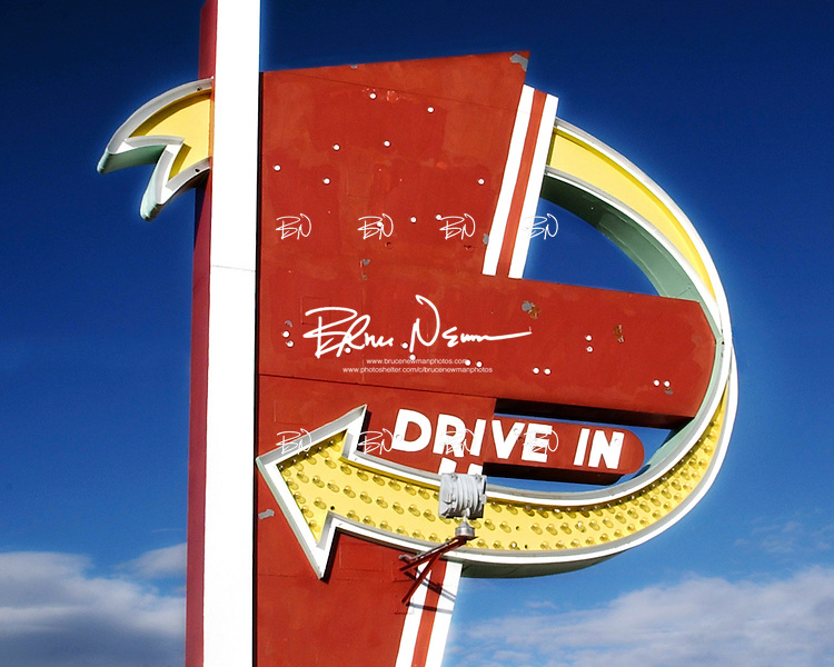 Drive In sign in Cheyenne, Wyoming.