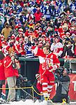31 December 2013: Former Detroit Red Wings forward Sergei Fedorov (91) waves to fans as he is introduced before the Toronto Maple Leafs v Detroit Red Wings Alumni Showdown hockey game, at Comerica Park, in Detroit, MI.