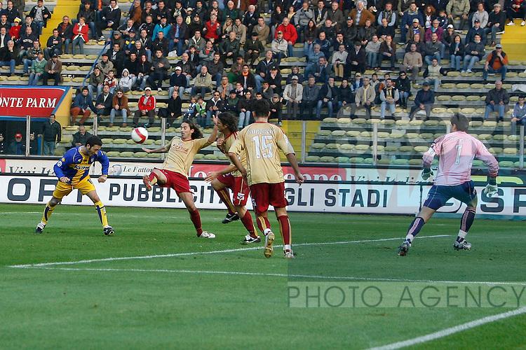 Domenico Morfeo of Parma scores a goal