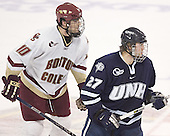 Brian Boyle, Daniel Winnik - The Boston College Eagles and University of New Hampshire earned a 3-3 tie on Thursday, March 2, 2006, on Senior Night at Kelley Rink at Conte Forum in Chestnut Hill, MA.  Boston College honored its three seniors, captain Peter Harrold and alternate captains Chris Collins and Stephen Gionta, before the game.