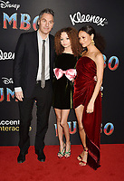 HOLLYWOOD, CA - MARCH 11: (L-R) Ol Parker, Nico Parker and Thandie Newton attend the premiere of Disney's 'Dumbo' at El Capitan Theatre on March 11, 2019 in Los Angeles, California.<br /> CAP/ROT/TM<br /> &copy;TM/ROT/Capital Pictures