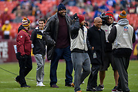 Landover, MD - December 9, 2018: Georgetown Hoyas head coach Patrick Ewing on the field for the coin toss before game between the New York Giants and Washington Redskins at FedEx Field in Landover, MD. The Giants defeated the Redskins 40-16 dropping the Redskins to 6-7 on the season. (Photo by Phillip Peters/Media Images International)
