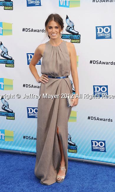 SANTA MONICA, CA - AUGUST 19: Nikki Reed arrive at the 2012 Do Something Awards at Barker Hangar on August 19, 2012 in Santa Monica, California.