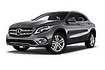 Stock pictures of low aggressive front three quarter view of a 2018 Mercedes Benz GLA Base 5 Door SUV