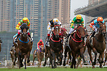 SHA TIN, HONG KONG – APRIL 28:Solar Wai Wai, ridden by Umberto Rispoli wins the FWD Insurance Growth Handicap on FWD Champions Day at Sha Tin Racecourse in Hong Kong. Michael McInally/Eclipse Sportswire/CSM