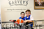 Adam Quinn and Rian Twohey at the Launch of the Garvey's SuperValu sponsorship of the Tralee Warriors