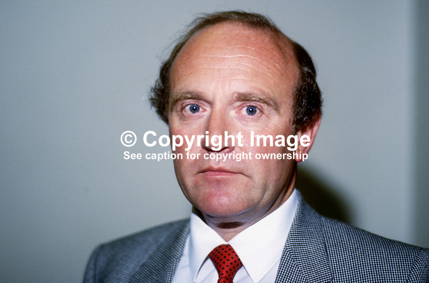 Billy Brown, Banks' Staff Relations Committee, N Ireland, 19850804BB1..Copyright Image from Victor Patterson, 54 Dorchester Park, Belfast, UK, BT9 6RJ..Tel: +44 28 9066 1296.Mob: +44 7802 353836.Voicemail +44 20 8816 7153.Skype: victorpattersonbelfast.Email: victorpatterson@me.com.Email: victorpatterson@ireland.com (back-up)..IMPORTANT: If you wish to use this image or any other of my images please go to www.victorpatterson.com and click on the Terms & Conditions. Then contact me by email or phone with the reference number(s) of the image(s) concerned.