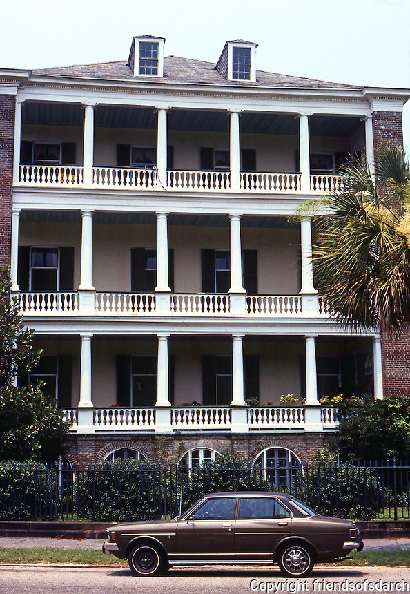Charlston:  Charleston House. View from park.  Photo '78.