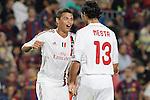 AC Milan's Thiago Silva and Alessandro Nesta during Champions League match on september 13th 2011...Photo: Cesar Cebolla / ALFAQUI