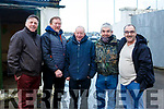Attending the Kingdom Cup coursing meeting at Ballybeggan Park, Tralee on Wednesday last, l-r, John Bubbles Hegarty, Nicholas Scollard, Michael Kelly, John The Bull O'Brien and Eugene Powell.