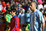 17 JUN 2010: Walter Samuel (ARG). The Argentina National Team defeated the South Korea National Team 4-1 at Soccer City Stadium in Johannesburg, South Africa in a 2010 FIFA World Cup Group E match.