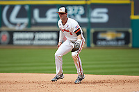 Sam Houston State Bearkats first baseman Ben Haefner (6) on defense against the Vanderbilt Commodores in game one of the 2018 Shriners Hospitals for Children College Classic at Minute Maid Park on March 2, 2018 in Houston, Texas. The Bearkats walked-off the Commodores 7-6 in 10 innings.   (Brian Westerholt/Four Seam Images)