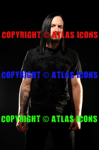 Disturbed : Mike Wengren, .Studio Session In Chicago, on 2009,.Photo Credit: Eddie Malluk/Atlasicons.com