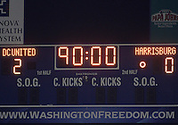 Victory for D.C. United against the Harrisburg City Islanders during a US Open Cup match at the Maryland Soccerplex on July 21 2010, in Boyds, Maryland. United won 2-0.