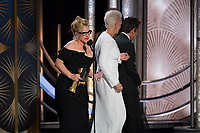 Patricia Arquette accepts the Golden Globe Award for BEST PERFORMANCE BY AN ACTRESS IN A LIMITED SERIES OR A MOTION PICTURE MADE FOR TELEVISION for her role in &quot;Escape at Dannemora&quot; at the 76th Annual Golden Globe Awards at the Beverly Hilton in Beverly Hills, CA on Sunday, January 6, 2019.<br /> *Editorial Use Only*<br /> CAP/PLF/HFPA<br /> Image supplied by Capital Pictures
