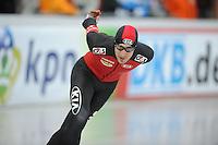 SCHAATSEN: BOEDAPEST: Essent ISU European Championships, 07-01-2012, 5000m Men, Ferre Spruyt BEL, ©foto Martin de Jong