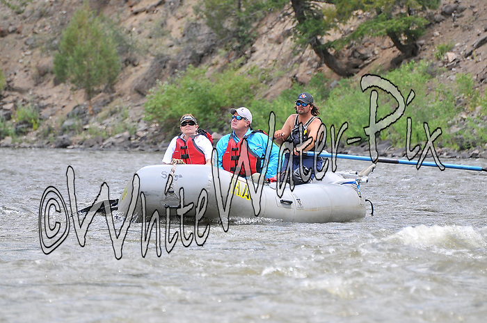 Bucking Rainbow Outfitters crashing Cable Rapid while floating the Upper Colorado River from Rancho to State Bridge, July 12, 2013, Afternoon Trip, PM, Bond, Colorado - WhiteWater-Pix | River Adventure Photography - by MADOGRAPHER Doug Mayhew