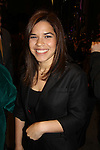 Actress America Ferrera (Ugly Betty and now on The Good Wife) attends the Opening Night of Broadway's Jerusalem on April 21, 2011 at the Music Box Theatre, New York City, New York. (Photo by Sue Coflin/Max Photos)