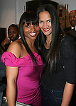 Amoy Pitters and Astrid Blomgren attend Celebrity Hairstylist Amoy Pitters & Host Joy Bryant Celebrate The Opening of Amoy Couture Hair Salon with Music by DJ Cassidy, New York, 2/16/10