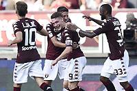 esultanza gol Andrea Belotti goal celebration<br /> Torino 27-08-2017 Stadio Olimpico Grande Torino Calcio Serie A 2017/2018, Torino-Sassuolo <br /> Torino Sassuolo Foto Imagesport/Insidefoto
