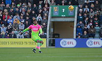 during the Sky Bet League 2 match between Plymouth Argyle and Wycombe Wanderers at Home Park, Plymouth, England on 26 December 2016. Photo by Mark  Hawkins / PRiME Media Images.