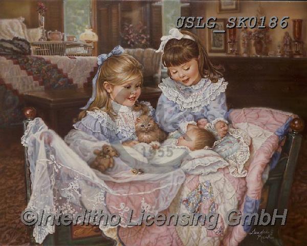 CHILDREN, KINDER, NIÑOS, paintings+++++,USLGSK0186,#K#, EVERYDAY ,Sandra Kock, victorian