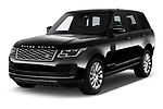 2019 Land Rover Range-Rover HSE 5 Door SUV Angular Front automotive stock photos of front three quarter view