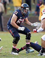 Oct. 22, 2011 - Charlottesville, Virginia - USA; Virginia Cavaliers guard Austin Pasztor (63) during an NCAA football game against the North Carolina State Wolfpack at the Scott Stadium. NC State defeated Virginia 28-14. (Credit Image: © Andrew Shurtleff