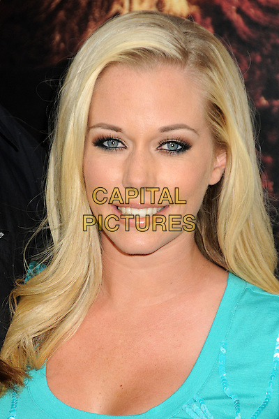 "KENDRA WILKINSON BASKETT .""A Nightmare On Elm Street"" Los Angeles Premiere held at Grauman's Chinese Theatre, Hollywood, California, USA, 27th April 2010..portrait headshot green turquoise smiling false eyelashes make-up eye contact .CAP/ADM/BP.©Byron Purvis/AdMedia/Capital Pictures."