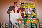 Paul  Julie, Fiona and Grace  at the Top of Coom with the Sam Maguire and Aidan O'Mahony last Thursday night.