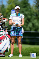 Gaby Lopez (MEX) prepares to tee of on 2 during Saturday's round 3 of the 2017 KPMG Women's PGA Championship, at Olympia Fields Country Club, Olympia Fields, Illinois. 7/1/2017.<br /> Picture: Golffile | Ken Murray<br /> <br /> <br /> All photo usage must carry mandatory copyright credit (&copy; Golffile | Ken Murray)