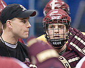 Mike Cavanaugh, Chris Collins - The Boston College Eagles took their morning skate on Saturday, April 8, 2006, at the Bradley Center in Milwaukee, Wisconsin to prepare for the 2006 Frozen Four Final game versus the University of Wisconsin.
