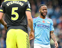 2nd November 2019; Etihad Stadium, Manchester, Lancashire, England; English Premier League Football, Manchester City versus Southampton; Raheem Sterling of Manchester City shows his frustration as his team trail 0-1 during the first half - Strictly Editorial Use Only. No use with unauthorized audio, video, data, fixture lists, club/league logos or 'live' services. Online in-match use limited to 120 images, no video emulation. No use in betting, games or single club/league/player publications