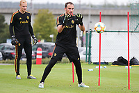 20190903 – TUBIZE , BELGIUM : Belgian Jens Teunckens is pictured during a training session of the U21 youth team of the Belgian national soccer team Red Devils , a training session as a preparation for their first game against Wales in the qualification for the European Championship round in group 9 on the road for Hungary and Slovenia in 2021, Tuesday 3rd of September 2019 at the National training grounds in Tubize , Belgium. PHOTO SPORTPIX.BE | Sevil Oktem