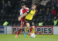 Fleetwood Town's Danny Andrew in action with Burton Albion's Oliver Sarkic<br /> <br /> Photographer Mick Walker/CameraSport<br /> <br /> The EFL Sky Bet League One - Burton Albion v Fleetwood Town - Saturday 11th January 2020 - Pirelli Stadium - Burton upon Trent<br /> <br /> World Copyright © 2020 CameraSport. All rights reserved. 43 Linden Ave. Countesthorpe. Leicester. England. LE8 5PG - Tel: +44 (0) 116 277 4147 - admin@camerasport.com - www.camerasport.com