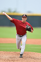 Arizona Diamondbacks pitcher Kevin Simmons (13) during an Instructional League game against the Colorado Rockies on October 8, 2014 at Salt River Fields at Talking Stick in Scottsdale, Arizona.  (Mike Janes/Four Seam Images)