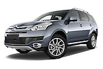 Low aggressive front three quarter view of a 2007 - 2012 Citroen C-CROSSER Exclusive  SUV 4WD