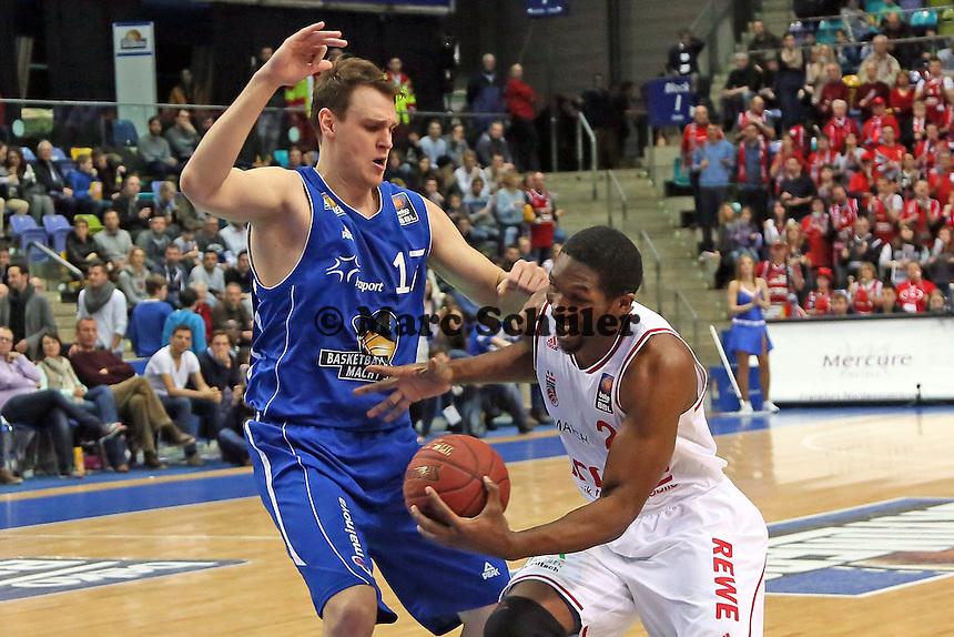 Trevor Mbakwe (Bamberg) gegen Johannes Voigtmann (Skyliners) - Fraport Skyliners vs. Brose Baskets Bamberg, Fraport Arena Frankfurt
