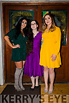 Molly Carmody (centre with glasses) enjoying her 21st birthday celebrations with her friends Christina Kiernan (Athlone/Kerry) and Laura McEntegart (Athlone/Kerry), Christina & Laura who dressed in the Kerry colours for their trip down from Athlone to celebrate Molly's birthday.
