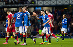 Jason Holt celebrates his goal after Michael O'Halloran crossed in for him