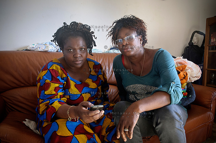 Palermo:Osas e Vero,  fondatrici di un'associazione di donne nigeriane  per  condurre in prima persona battaglie per contrastare il fenomeno della tratta.<br />